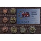Набор пробных евро  Акротири и Декелиа 2010 года в блистере