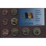 Набор пробных евро  Андорры 2014 года в блистере