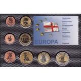 Набор пробных евро Англии 2007 года в блистере