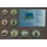 Набор пробных евро  Арубы 2007 года в блистере