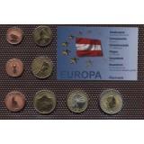Набор пробных евро  Австрии 2001 года в блистере