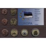 Набор пробных евро  Эстонии 2010 года в блистере