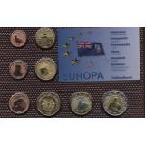 Набор пробных евро Фолклендских островов 2008 года в блистере