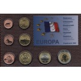 Набор пробных евро  Франции 2001 года в блистере