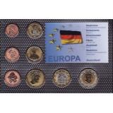Набор пробных евро Германии 2001 года в блистере