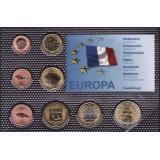 Набор пробных евро  Гваделупы 2009 года в блистере