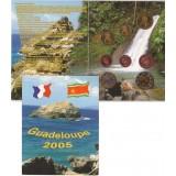 Набор пробных евро  Гваделупы 2005 года в буклете