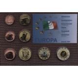 Набор пробных евро  Ирландии 2001 года в блистере