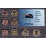 Набор пробных евро  Каймановы острова 2009 года в блистере