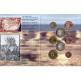 Набор пробных евро  Карфаген 2005 года в буклете