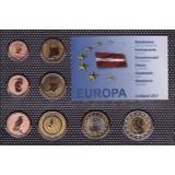 Набор пробных евро Латвии 2011 года в блистере