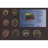 Набор пробных евро  Литвы 2006 года в блистере