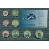 Набор пробных евро  острова  Льюис и Харрис Шотландии  2010 года в блистере