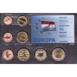 Набор пробных евро  Люксембурга  2001 года в блистере