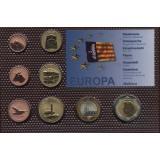 Набор пробных евро  Майорки 2010 года в блистере