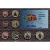 Набор пробных евро  Оркни 2014 года в блистере