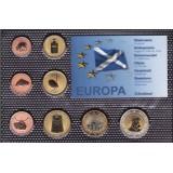 Набор пробных евро  Шотландии 2008 года в блистере