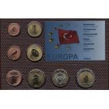 Набор пробных евро Турции 2008 года в блистере