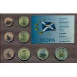 Набор пробных евро  Шотландии 2013 года в блистере