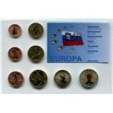 Набор пробных евро Словении 2006 года в блистере