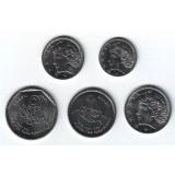 Набор монет Бразилии (5 штук). 1-25 сентаво, 1975-1995 гг, Бразилия.