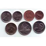 Набор монет Фиджи (7 шт.). 2006-2010 год, Фиджи.