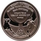 25 лет победы Динамо Тбилиси в Кубке Кубков по футболу. Монета 2 лари, 2006 год, Грузия