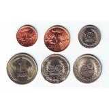 Набор монет Колумбии (6 штук). 1 сентаво-1 песо, 1968-1979 гг, Колумбия.
