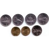 Транспорт. Набор монет Северной Кореи (7 шт.). 2002 год, Северная Корея.