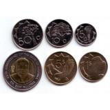Набор монет Намибии (6 шт.), 1993-2010 гг., Намибия.