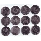 """Набор монет """"Знаки Зодиака"""" (12 штук). 10 шиллингов, 2012 год, Сомалиленд."""