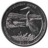 Национальный парк Бомбей-Хук. Монета 25 центов (D). 2015 год, США.