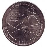 Национальный исторический парк Камберленд-Гэп. Монета 25 центов (D). 2016 год, США.
