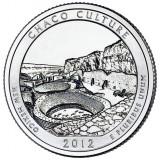 Национальный исторический парк Чако. Монета 25 центов (D). 2012 год, США