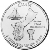 Гуам. Монета 25 центов (D). 2009 год, США.