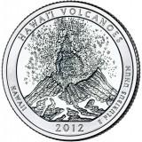 Национальный парк Гавайские вулканы. Монета 25 центов (D). 2012 год, США.
