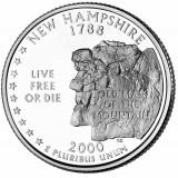 Нью-Гэмпшир. Монета 25 центов (D). 2000 год, США.