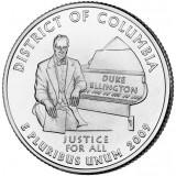 Округ Колумбия. Монета 25 центов (D). 2009 год, США.