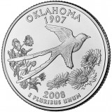 Оклахома. Монета 25 центов (D). 2008 год, США.