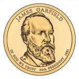 20-й президент США. Джеймс Гарфилд. Монетный двор D. 1 доллар, 2011 год, США.