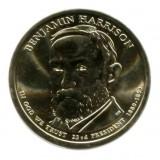 23-й президент США. Бенджамин Гаррисон. Монетный двор D. 1 доллар, 2012 год, США.