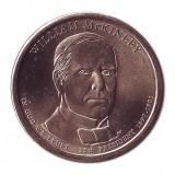 25-й президент США. Уильям Мак-Кинли. Монетный двор D. 1 доллар, 2013 год, США.