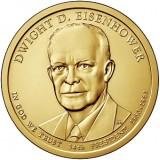 34-й президент США. Дуайт Эйзенхауэр. Монетный двор D. 1 доллар, 2015 год, США