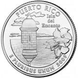 Пуэрто-Рико. Монета 25 центов (D). 2009 год, США.