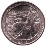 Национальный парк Теодор Рузвельт. Монета 25 центов (D). 2016 год, США.