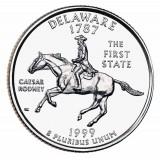 Делавэр. Монета 25 центов (D). 1999 год, США.