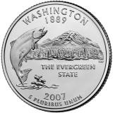 Вашингтон. Монета 25 центов (P). 2007 год, США.