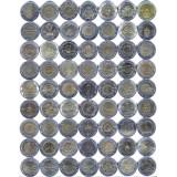 Набор памятных биметаллических монет Тайланда (63 шт.), 10 батов. Тайланд.