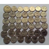 Набор памятных монет Тайланда (41 шт.), 2 бат (члены королевской семьи) Тайланд.