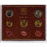 Годовой набор монет евро Ватикана в буклете. 2011 год, Ватикан.